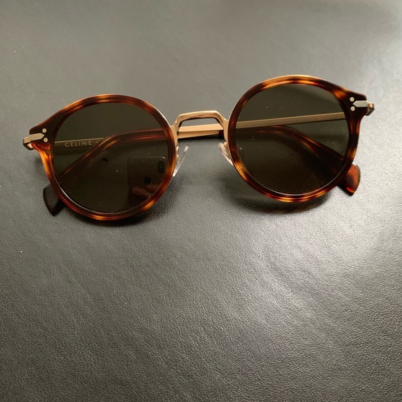 a4bb90353 Celine Accessories | Joe Sunglasses Round Mod Hip Tortoiseshell ...